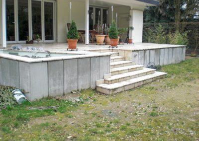 Gartengestaltung auf einem Grundstück