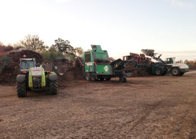 Kompostwerk mit Maschinen